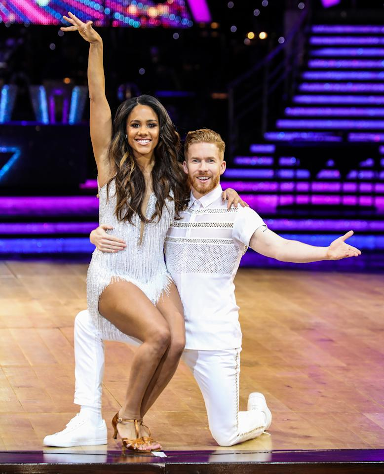 Alex Scott and Neil Jones attending a Photocall ahead of the first night of the Strictly Come Dancing Live Tour 2020 at Arena Birmingham. (Photo by Brett Cove / SOPA Images/Sipa USA)