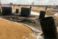 Unused drums for boiling rice are pictured at Wurukum rice mill in Makurdi town