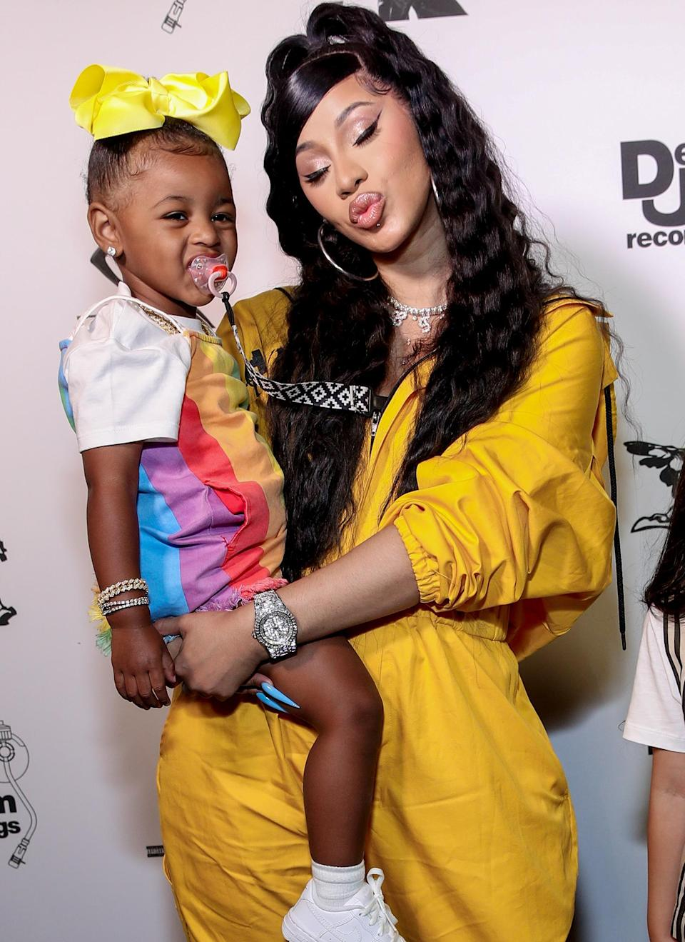 """<p><a href=""""https://people.com/tag/cardi-b/"""" rel=""""nofollow noopener"""" target=""""_blank"""" data-ylk=""""slk:Cardi B"""" class=""""link rapid-noclick-resp"""">Cardi B</a> is making sure to raise her daughter with self-confidence.</p> <p>The rapper is mother to 2-year-old daughter <a href=""""https://people.com/parents/cardi-b-offset-welcome-daughter-kulture-kiari/"""" rel=""""nofollow noopener"""" target=""""_blank"""" data-ylk=""""slk:Kulture Kiari"""" class=""""link rapid-noclick-resp"""">Kulture Kiari</a>, whom she's raising with her husband, rapper Offset. While Kulture is already taking after her mom with a sassy and funny personality, the toddler already has over one million followers on <a href=""""https://www.instagram.com/kulturekiari/"""" rel=""""nofollow noopener"""" target=""""_blank"""" data-ylk=""""slk:Instagram"""" class=""""link rapid-noclick-resp"""">Instagram</a>. </p> <p>Cardi shared with <a href=""""https://www.billboard.com/articles/news/women-in-music/9492018/cardi-b-woman-of-the-year-billboard-cover-story-interview-2020/"""" rel=""""nofollow noopener"""" target=""""_blank"""" data-ylk=""""slk:Billboard"""" class=""""link rapid-noclick-resp""""><i>Billboard</i></a> that above all else she wants to make sure that Kulture knows that she's """"that girl.""""</p> <p>""""I always want her to know that she's beautiful,"""" she said. """"She knows what type of person I am, and when she gets older, clearly she's gonna hear me expressing myself because we live in the same damn house. I just want her to know: I might be a little crazy, but I have a good heart and I love her. I want her to be confident always.""""</p> <p>She added, """"Don't let one comment break you and make you feel like you're not that girl. You that girl.""""</p>"""