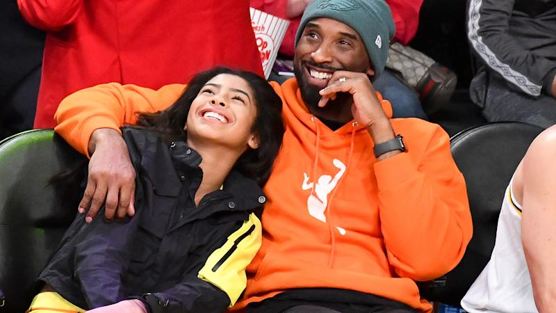 Kobe and Gianna Bryant, pictured here at a Los Angeles Lakers game in December.