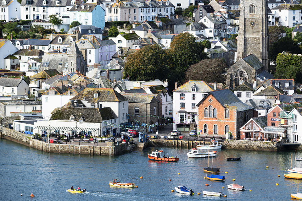 The coastal town of fowey in Cornwall – a popular location for second homes. Photo: Kevin Britland/Education Images/Universal Images Group via Getty