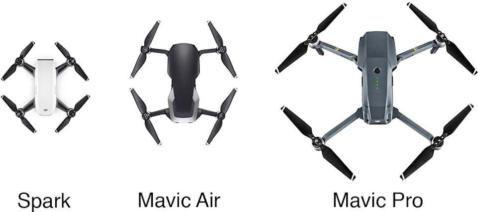 The Spark may look smaller than the Mavic Air, but remember that it doesn't fold up.