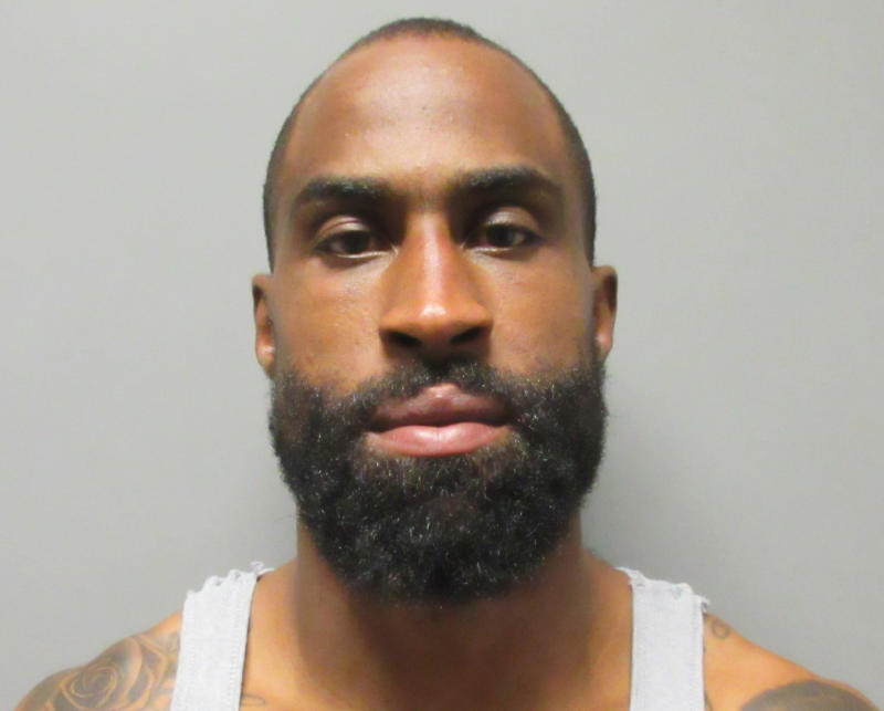 This photo provided by the La Verne Police Department shows Brandon Browner, who was arrested Sunday. (La Verne Police Department via AP)