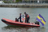 Brexit protest to increase the share of fishing quotas in Irish waters, in Dublin