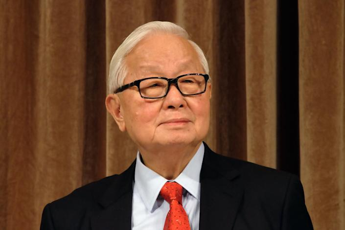 Morris Chang, chairman of Taiwan Semiconductor Manufacturing Co., listens during a 2014 shareholders conference in Taipei.