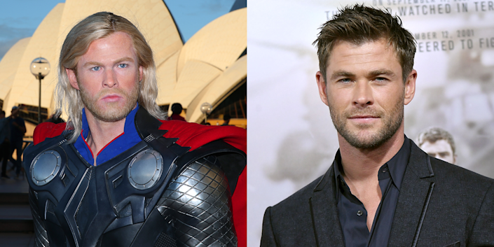 """<p>Remember what I said about Bill Hader's """"Californians"""" wig? Well it's back again and this time it's on Thor's head. </p>"""