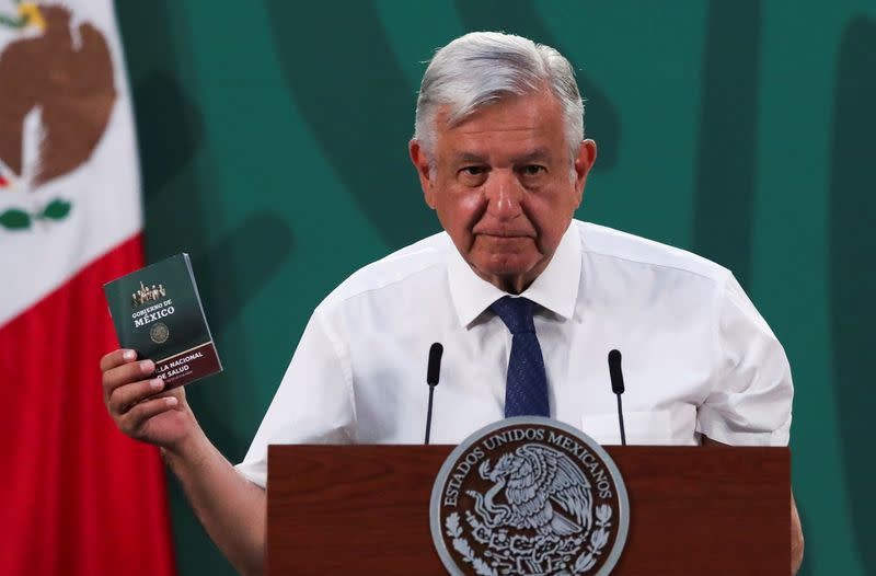 Mexico's President Andres Manuel Lopez Obrador receives COVID-19 vaccine at the National Palace in Mexico City