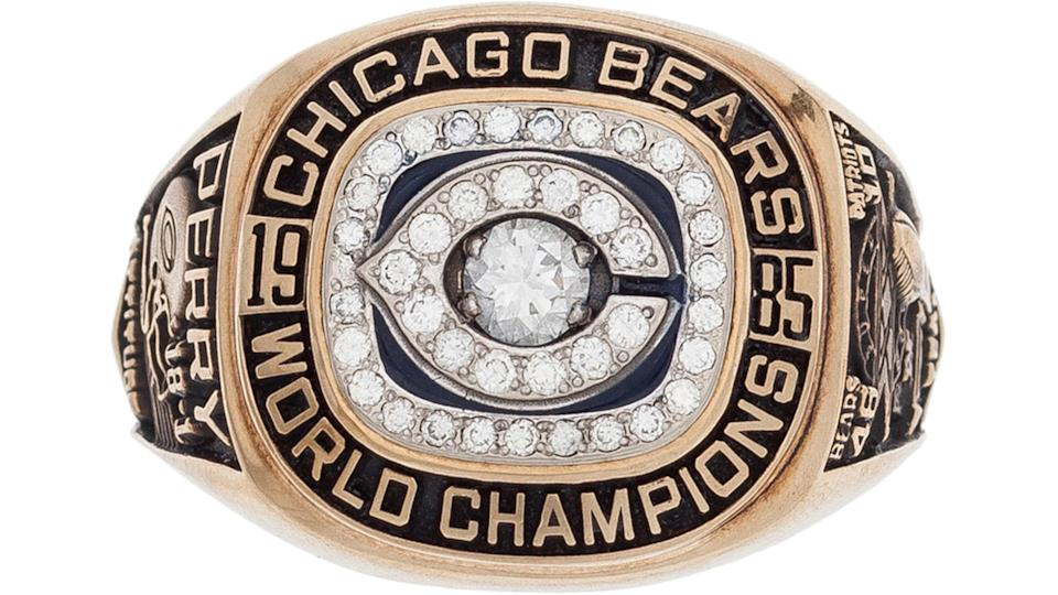 """<p><strong>Selling price:</strong> $203,150</p> <p>NFL players are big men with big hands and big fingers. When they win Super Bowls, they get really big rings — but none bigger than the size 25 ring wore by William """"Refrigerator"""" Perry, who boasted the largest championship ring ever produced. According to the Chicago Sun-Times, the ring is one of history's most coveted pieces of Chicago sports memorabilia. Perry was a 320-pound rookie who became one of the biggest names in football when Bears coach Mike Ditka used him at fullback in short yardage situations. The ring, which sold for more than $200,000 in 2015, was gifted to Perry after the Bears dominated the Patriots in 1985's Super Bowl XX and Perry scored a memorable touchdown.</p> <p><em><strong>Net Worth: <a href=""""https://www.gobankingrates.com/net-worth/sports/nfl-hall-famer-highest-net-worth/?utm_campaign=1021155&utm_source=yahoo.com&utm_content=16"""" rel=""""nofollow noopener"""" target=""""_blank"""" data-ylk=""""slk:Which NFL Hall of Famer Has the Highest Net Worth?"""" class=""""link rapid-noclick-resp"""">Which NFL Hall of Famer Has the Highest Net Worth?</a></strong></em></p>"""