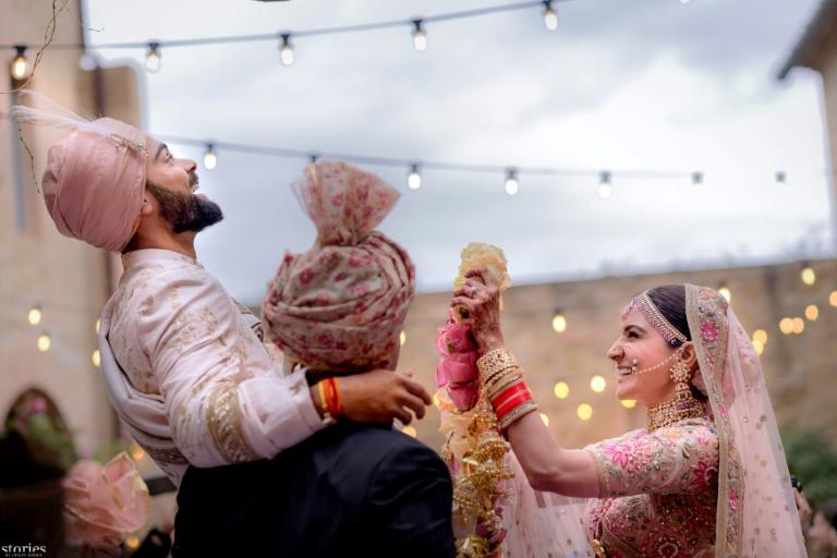 Virat Kohli and Anushka Sharma started dating in 2013 after they met during the filming of a shampoo advert and made their first public appearance a year later during a football match