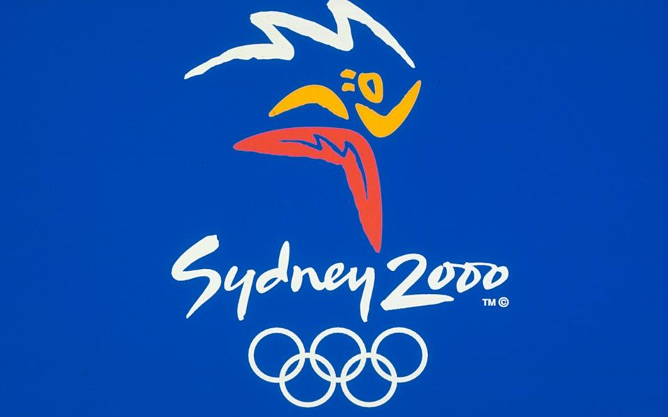 The official logo of the Sydney Olympic Games, pictured here in 2000.