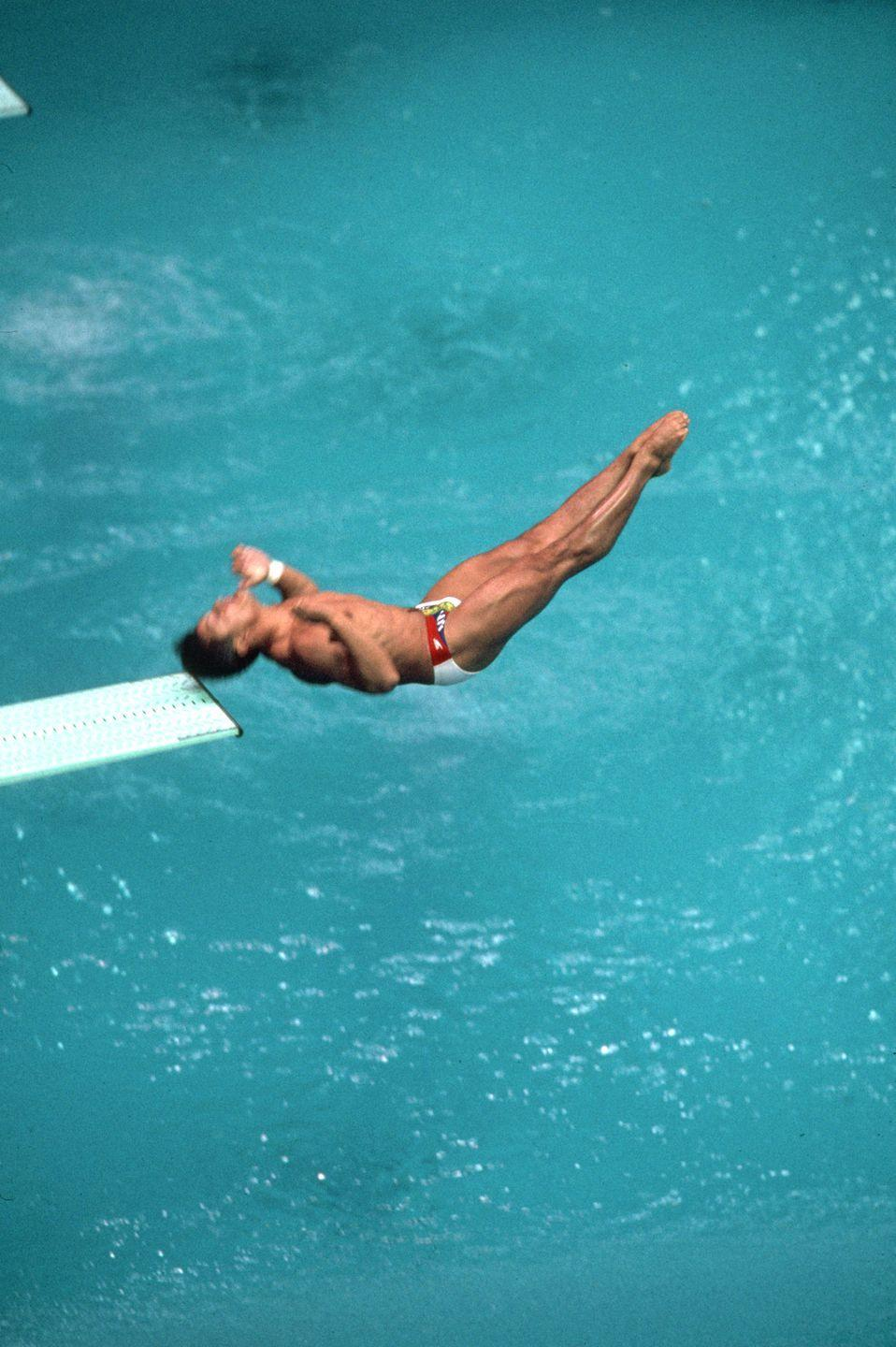 <p>In preliminary competition, U.S. diver Greg Louganis smacked his head on the diving board, suffering a concussion and a 2-inch scalp wound. But a day later, he returned to competition, stitches and all, to snag gold. </p>