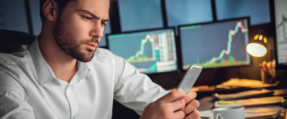Trading on an investing app