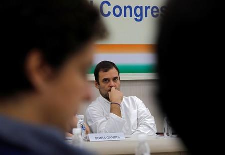 FILE PHOTO:  Rahul Gandhi, leader of India's main opposition Congress party, attends a Congress Working Committee (CWC) meeting in New Delhi