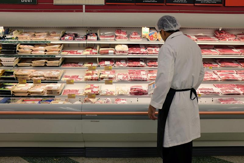 Meat is displayed in a case at a grocery store July 8, 2014 in Miami, Florida