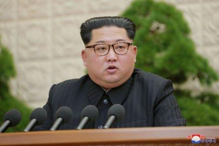 FILE PHOTO: North Korean leader Kim Jong Un speaks during the Third Plenary Meeting of the Seventh Central Committee of the Workers' Party of Korea (WPK), in this photo released by North Korea's Korean Central News Agency (KCNA) in Pyongyang on April 20, 2018. REUTERS/KCNA/File Photo