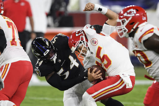 Ravens hope to learn from 'painful' lesson given by Chiefs