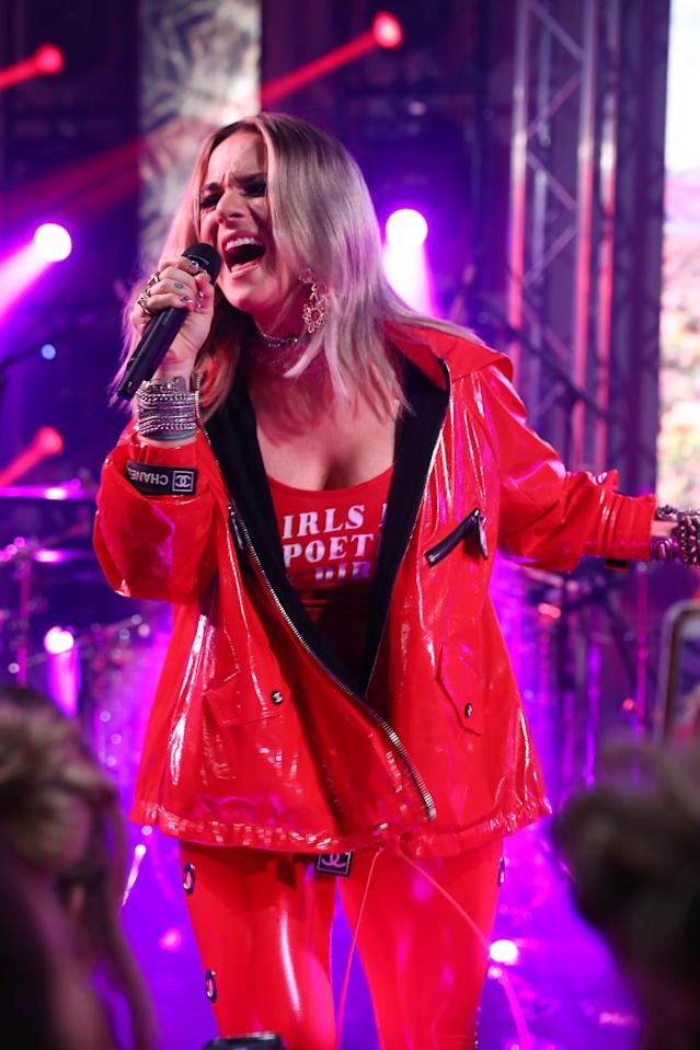 Singer Jojo performs onstage at NYLON's Midnight Garden Party on April 12, 2019 in Bermuda Dunes, California. (Photo by Joe Scarnici/Getty Images for NYLON)