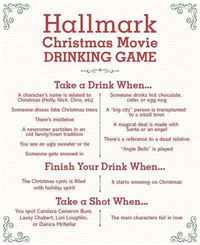 """<p>Here's a great party game for your next movie night—a <a href=""""https://www.countryliving.com/life/entertainment/a37707699/hallmark-christmas-movies-schedule-2021/"""" rel=""""nofollow noopener"""" target=""""_blank"""" data-ylk=""""slk:Hallmark Christmas movie"""" class=""""link rapid-noclick-resp"""">Hallmark Christmas movie</a>, to be exact. Talk about getting into the Christmas spirit!</p><p><strong><a href=""""https://www.countryliving.com/entertaining/news/a40893/hallmark-drinking-game/"""" rel=""""nofollow noopener"""" target=""""_blank"""" data-ylk=""""slk:Get the tutorial"""" class=""""link rapid-noclick-resp"""">Get the tutorial</a>.</strong></p><p><a class=""""link rapid-noclick-resp"""" href=""""https://www.amazon.com/s?url=search-alias%3Daps&field-keywords=WHITEBOARDS&tag=syn-yahoo-20&ascsubtag=%5Bartid%7C10050.g.22718533%5Bsrc%7Cyahoo-us"""" rel=""""nofollow noopener"""" target=""""_blank"""" data-ylk=""""slk:SHOP WHITEBOARDS"""">SHOP WHITEBOARDS</a></p>"""
