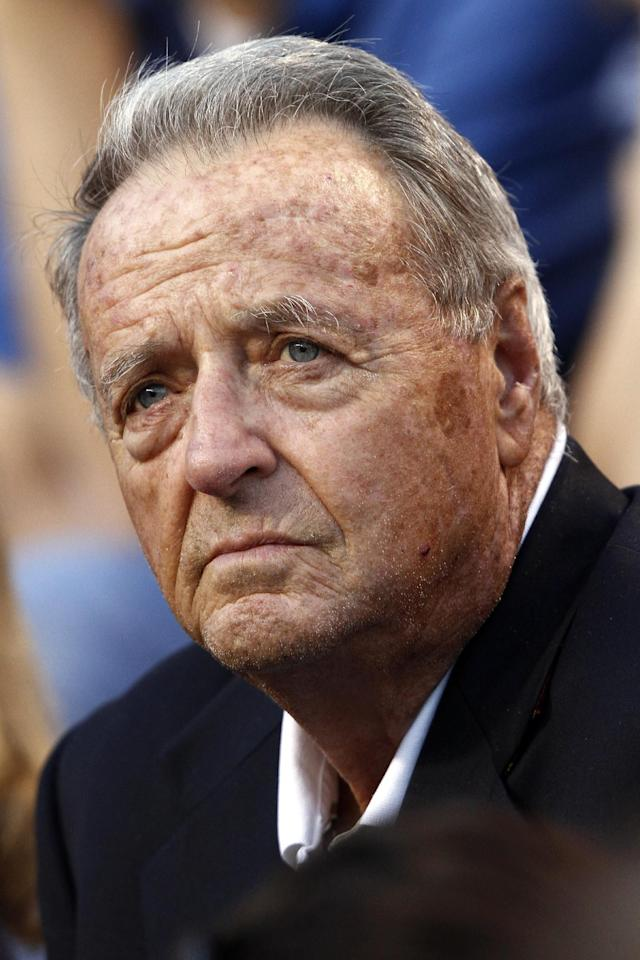 FILE - In this Sept. 22, 2012, file photo, former Florida State head football coach Bobby Bowden watches from the stands before an NCAA college football game between Akron and Tennessee in Knoxville, Tenn. When Bowden passes through a Florida State campus that prospered on every level because of the time he spent there, it never crosses his mind that he built all that. (AP Photo/Wade Payne, File)