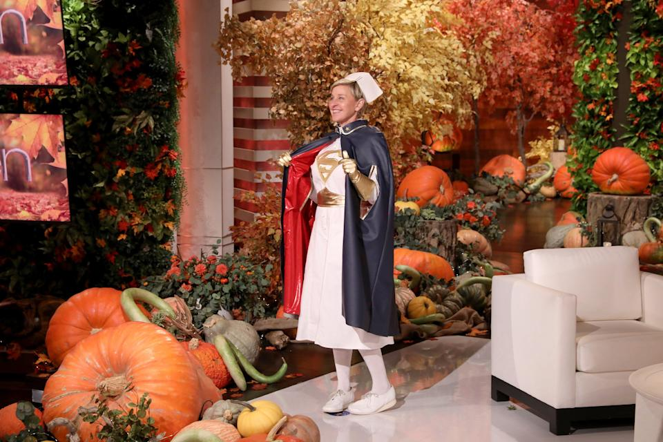 Ellen DeGeneres dressed up as her favorite superhero: a nurse!