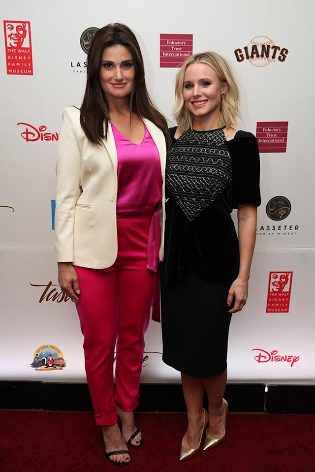 <p>It was winter in San Francisco on Tuesday as the <em>Frozen</em> stars reunited on the red carpet during the Walt Disney Family Museum's annual fundraising gala. (Photo: Kelly Sullivan/Getty Images for the Walt Disney Family Museum ) </p>