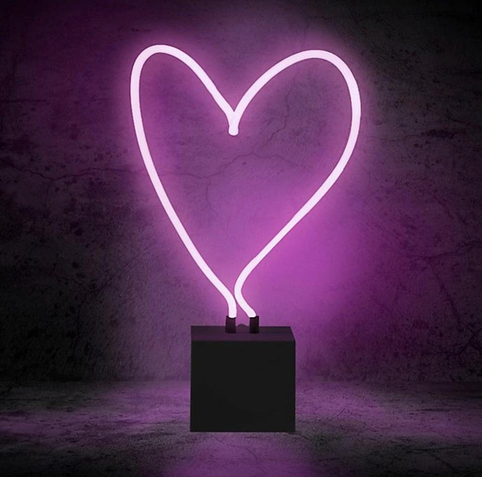 <p>This <span>Heart Neon Light</span> ($28) is a unique home accent. </p>