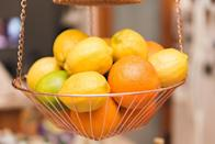 <span>Those stainless steel hanging fruit baskets may seem like a thing of the past, but they're actually a great storage option.</span> <span>Use them in a crafts room for yarn or thread, in the garage for dog toys, or in your closet for socks and hose. The possibilities are really endless.</span>