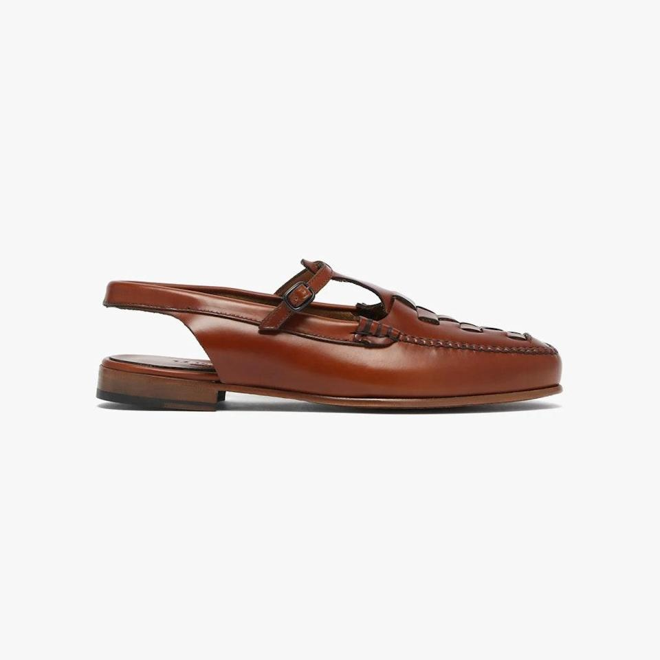 """$400, MATCHESFASHION.COM. <a href=""""https://www.matchesfashion.com/us/products/Hereu-Roqueta-leather-slingback-loafer-1400060"""" rel=""""nofollow noopener"""" target=""""_blank"""" data-ylk=""""slk:Get it now!"""" class=""""link rapid-noclick-resp"""">Get it now!</a>"""