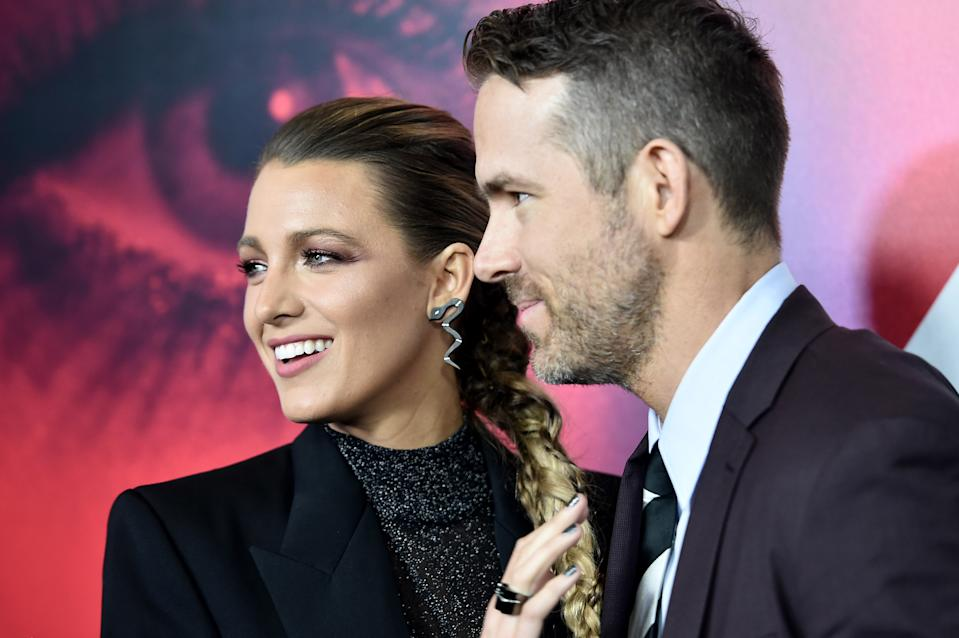 Blake Lively and Ryan Reynolds attend the New York premier of