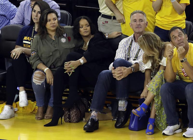 The going rate for a Rihanna-esque vantage point for Monday's Game 5? Think six figures. (AP)