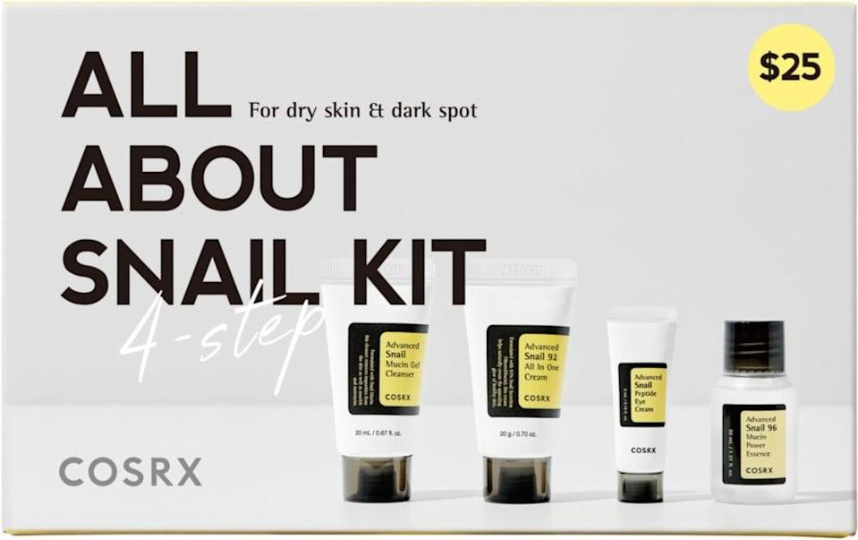 <p>If they have dry skin, they'll thank you endlessly for this <span>COSRX All About Snail Kit</span> ($25).</p>