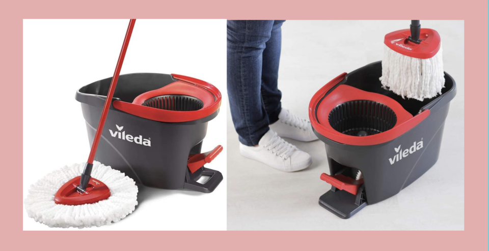 Vileda EasyWring Microfibre Spin Mop & Bucket Floor Cleaning System - Amazon.