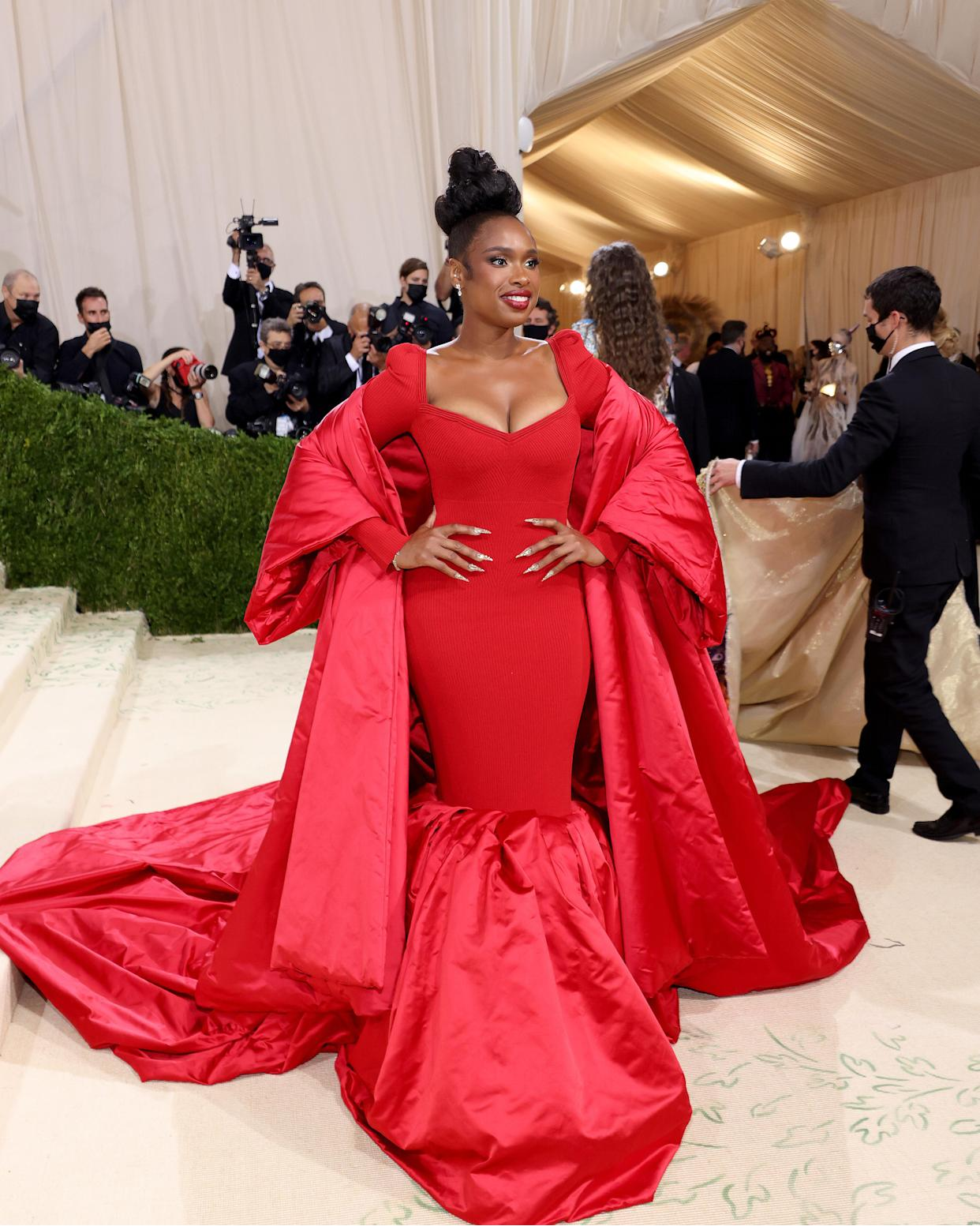 Jennifer Hudson attends The 2021 Met Gala Celebrating In America: A Lexicon Of Fashion at Metropolitan Museum of Art on September 13, 2021 in New York City. (Getty Images)