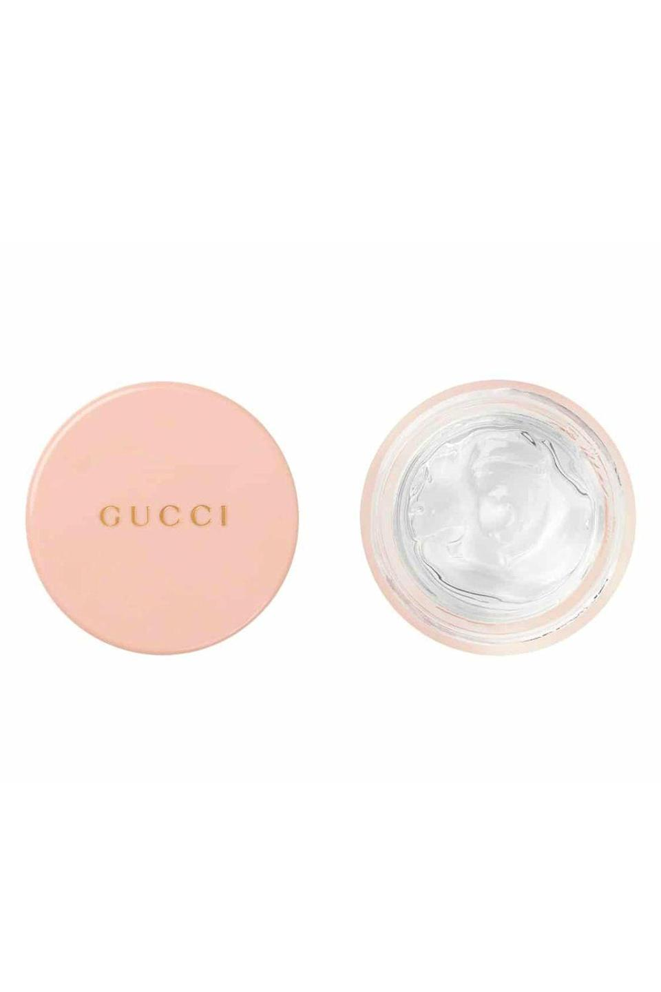 """<p><strong>Gucci</strong></p><p>sephora.com</p><p><strong>$33.00</strong></p><p><a href=""""https://go.redirectingat.com?id=74968X1596630&url=https%3A%2F%2Fwww.sephora.com%2Fproduct%2Fgucci-eclat-de-beaute-effet-lumiere-all-over-face-lip-gloss-P457649&sref=https%3A%2F%2Fwww.cosmopolitan.com%2Fstyle-beauty%2Fbeauty%2Fg36460987%2Fbest-face-gloss%2F"""" rel=""""nofollow noopener"""" target=""""_blank"""" data-ylk=""""slk:Shop Now"""" class=""""link rapid-noclick-resp"""">Shop Now</a></p><p>It's everything you could ever want in a face gloss (and a <a href=""""https://www.cosmopolitan.com/style-beauty/beauty/a36130996/beauty-awards-2021/"""" rel=""""nofollow noopener"""" target=""""_blank"""" data-ylk=""""slk:Cosmo beauty award winner"""" class=""""link rapid-noclick-resp""""><em>Cosmo</em> beauty award winner</a> too!). The <strong>gel-like formula is easy to apply</strong>, gives eyes, lips, and cheeks an instant glow, and never feels sticky or heavy on skin either.</p>"""