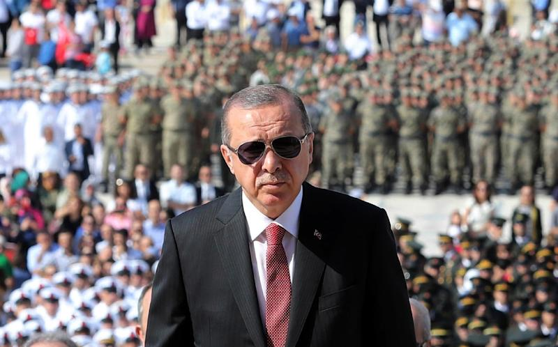 """Turkish President Recep Tayyip Erdogan has boasted that """"God willing we will see the S-400s in our country"""" (AFP Photo/ADEM ALTAN)"""