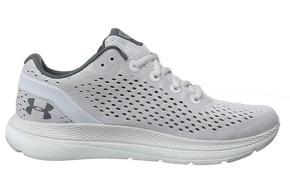 under armour, gray running shoes