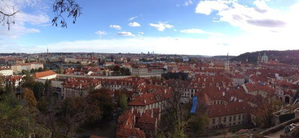 Another stunning view of Prague. (#NickInEurope)