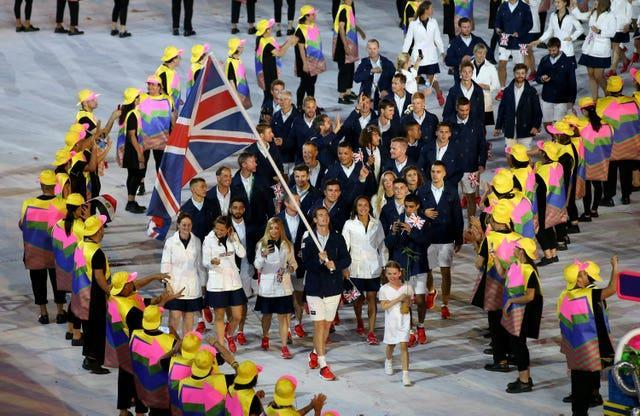 Andy Murray carried the British flag at the opening ceremony in Rio