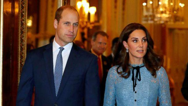 PHOTO: Britain's Prince William, Duke of Cambridge, Catherine Duchess of Cambridge and Prince Harry celebrate World Mental Health Day at Buckingham Palace in London, Oct. 10, 2017. (Heathcliff O'Malley/Reuters)