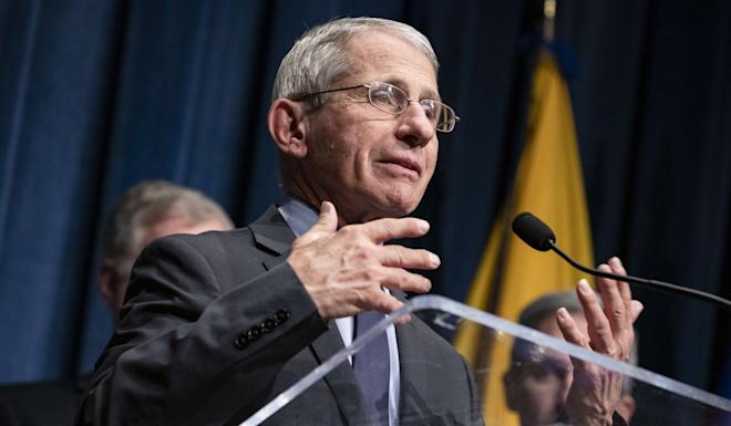 Anthony Fauci, director of the CDC's National Institute of Allergy and Infectious Diseases, speaks about recent coronavirus developments on Friday in Washington. Photo: Getty Images/AFP