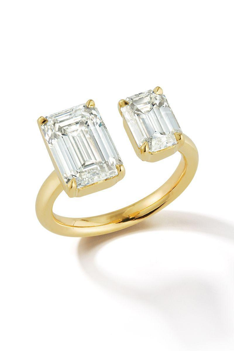 "<p><em><strong>Jemma Wynne </strong>Bespoke Emerald Cut Diamond Open Ring in 18K yellow gold, price upon request, <a href=""http://www.jemmawynne.com/"" rel=""nofollow noopener"" target=""_blank"" data-ylk=""slk:jemmawynne.com"" class=""link rapid-noclick-resp"">jemmawynne.com</a>.</em></p><p><a class=""link rapid-noclick-resp"" href=""http://www.jemmawynne.com/"" rel=""nofollow noopener"" target=""_blank"" data-ylk=""slk:SHOP"">SHOP</a></p>"
