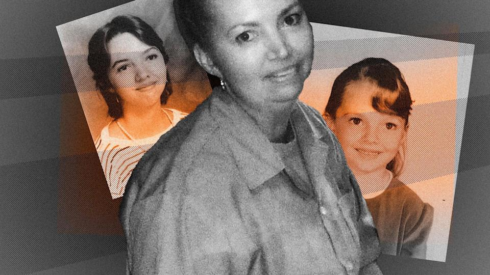 """""""She's lived a tortured life and she has been broken,"""" says Diane Mattingly, the sister of Lisa Montgomery, who is scheduled to be executed on Tuesday. (Photo: Illustration: HuffPost; Photos: Handout)"""