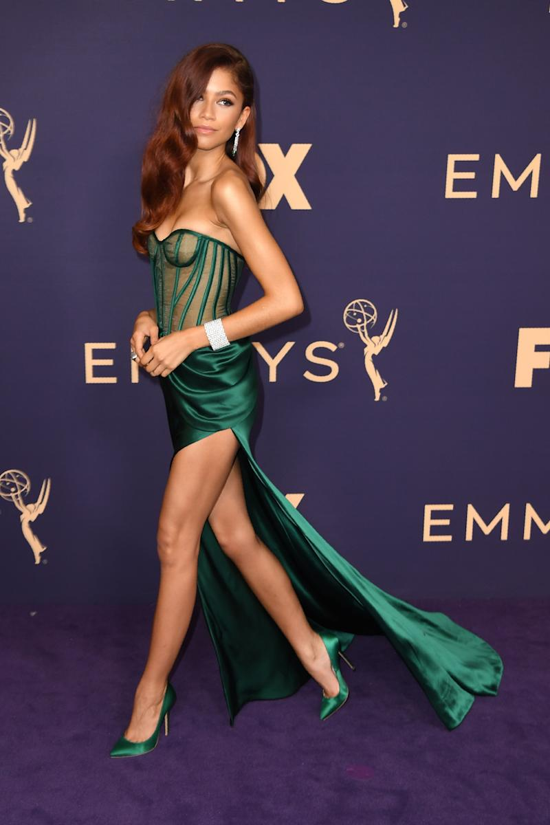 US actress Zendaya arrives for the 71st Emmy Awards at the Microsoft Theatre in Los Angeles on September 22, 2019. (Photo by Robyn Beck / AFP) (Photo credit should read ROBYN BECK/AFP/Getty Images)