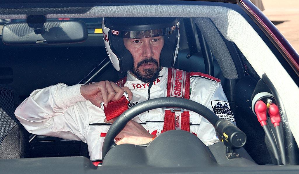 """Keanu's got a need for """"Speed""""! Frederick M. Brown/<a href=""""http://www.gettyimages.com/"""" target=""""new"""">GettyImages.com</a> - April 6, 2010"""