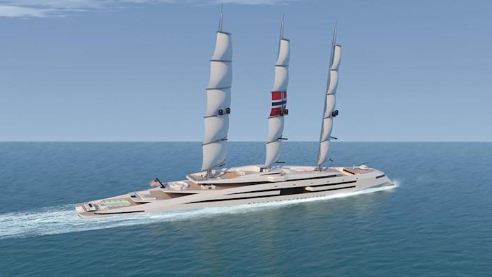 Norways sails can be deployed or furled away in just six minutes. - Credit: Kurt Strand Design