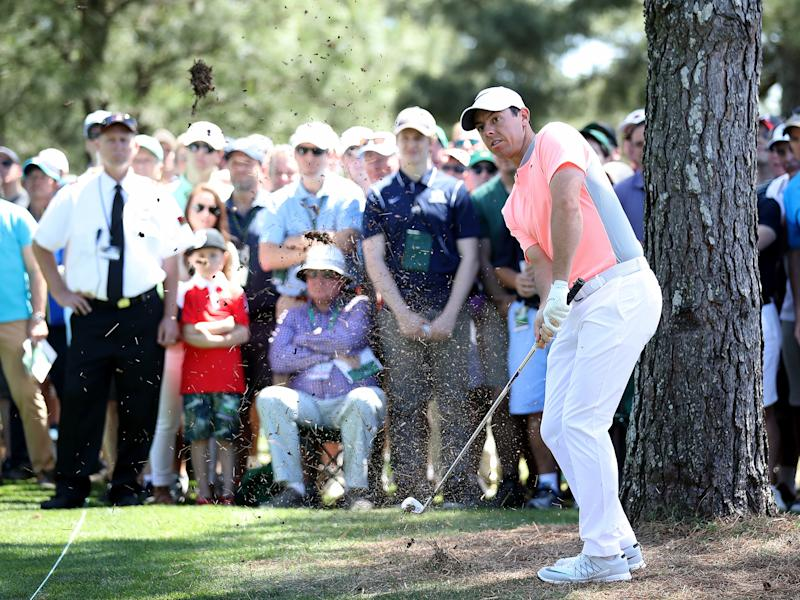 Things did not go according to plan for McIlroy on the final day of the Masters: Getty