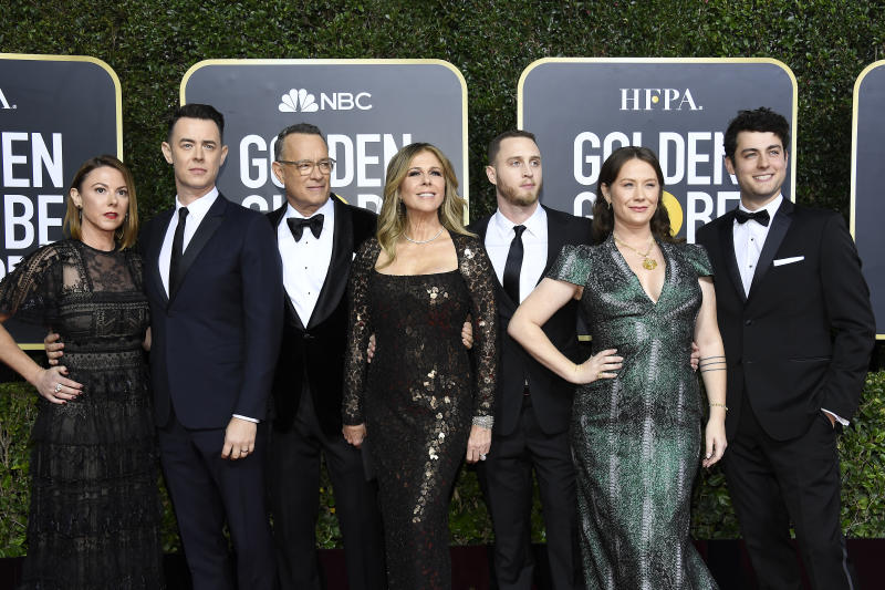 Tom Hanks attended the 77th Annual Golden Globe Awards with his family. (Photo: Kevork Djansezian/NBC/NBCU Photo Bank via Getty Images)
