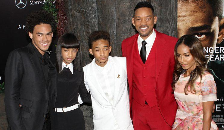 Will Smith and family - Credit: PA