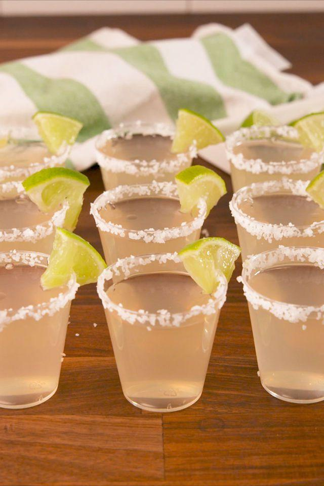 """<p>These could be dangerous.</p><p>Get the recipe from <a href=""""https://www.delish.com/cooking/recipe-ideas/recipes/a58007/margarita-jell-o-shots-recipe/"""" rel=""""nofollow noopener"""" target=""""_blank"""" data-ylk=""""slk:Delish"""" class=""""link rapid-noclick-resp"""">Delish</a>.</p>"""
