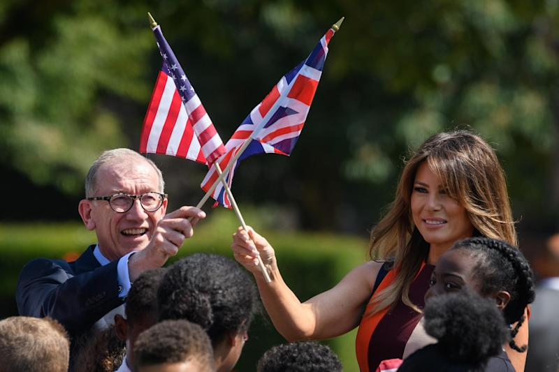 Philip May and Melania Trump (Getty Images)